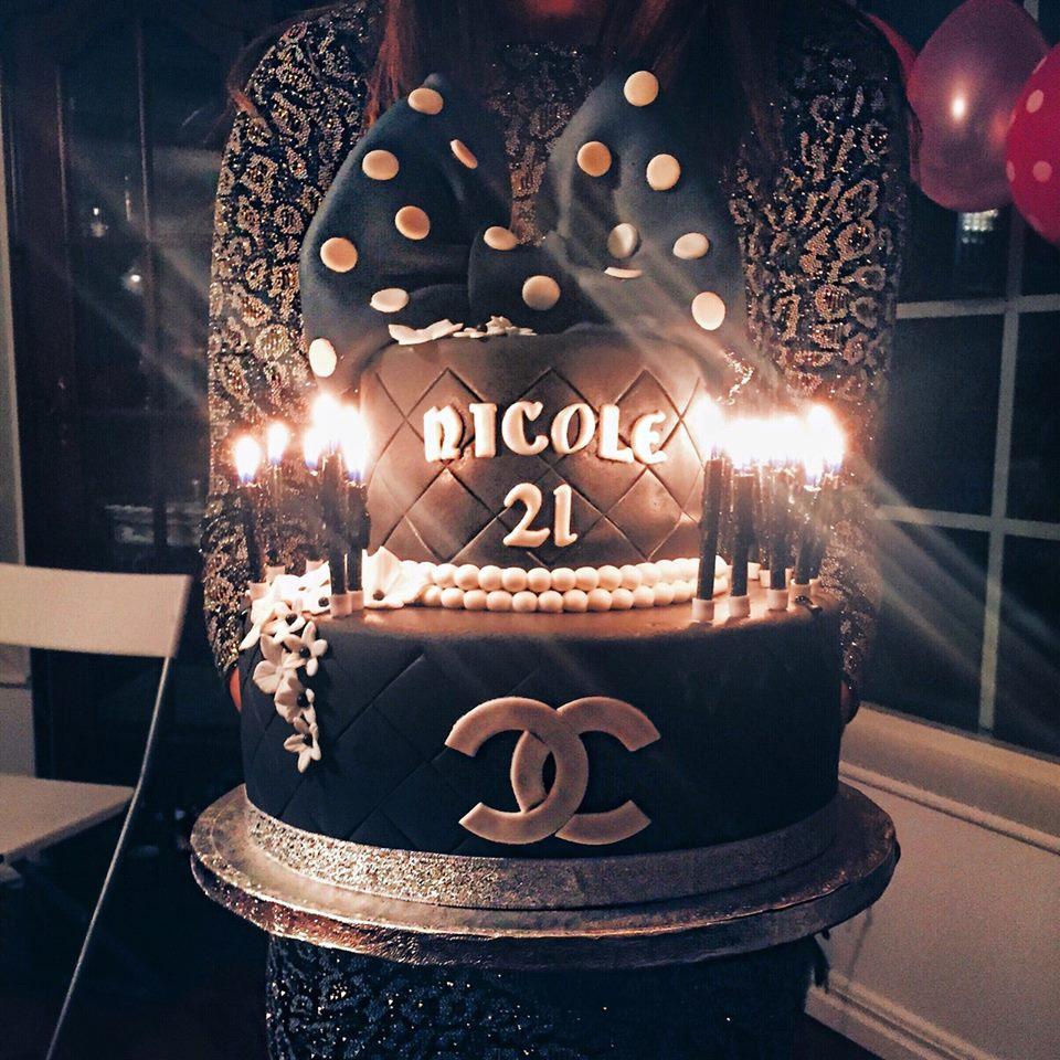модерна празнична торта Шанел