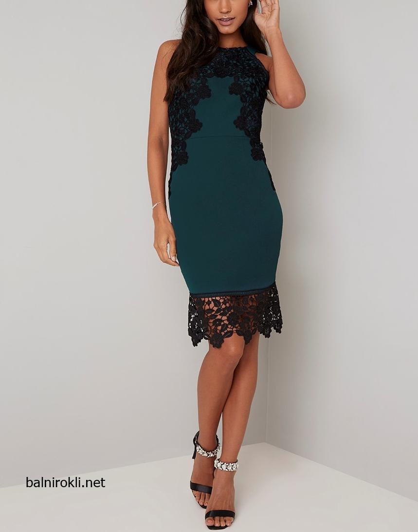 къса зелена права официална рокля