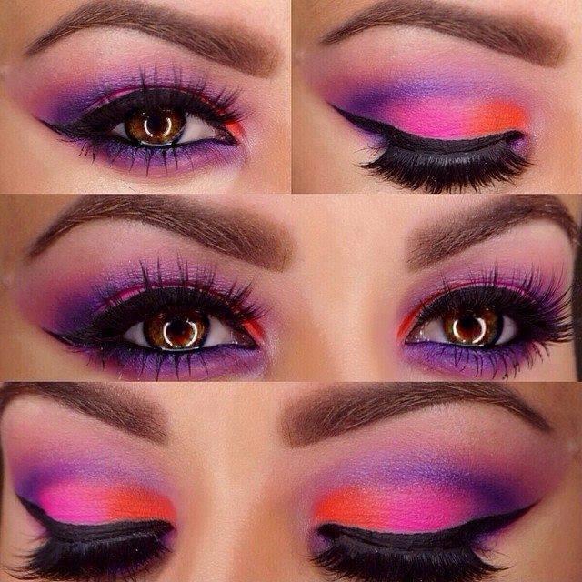 красиви очи-модерен грим