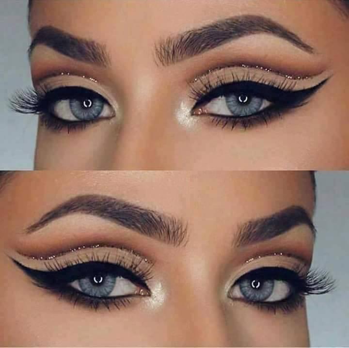 красиви очи  с модерен грим в натурални цветове