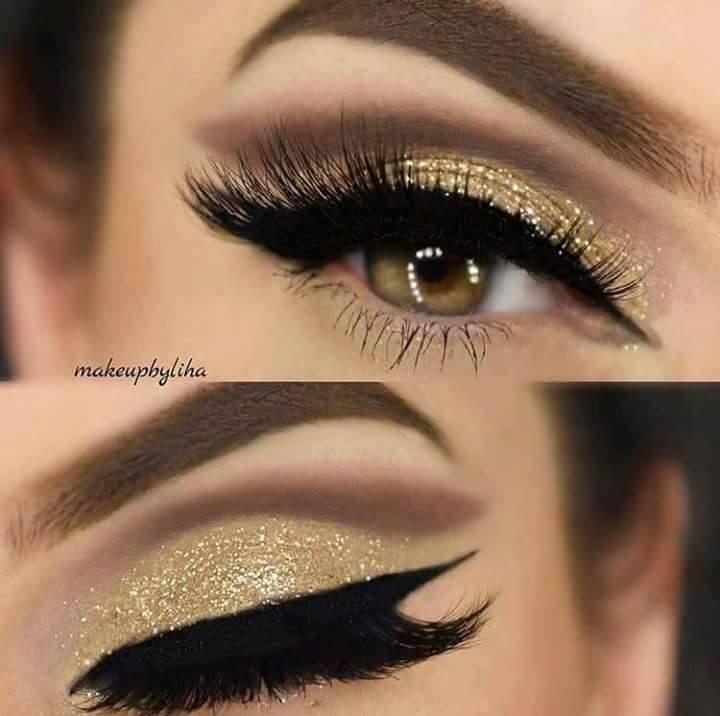 красиви очи с модерен грим в нежни тонове
