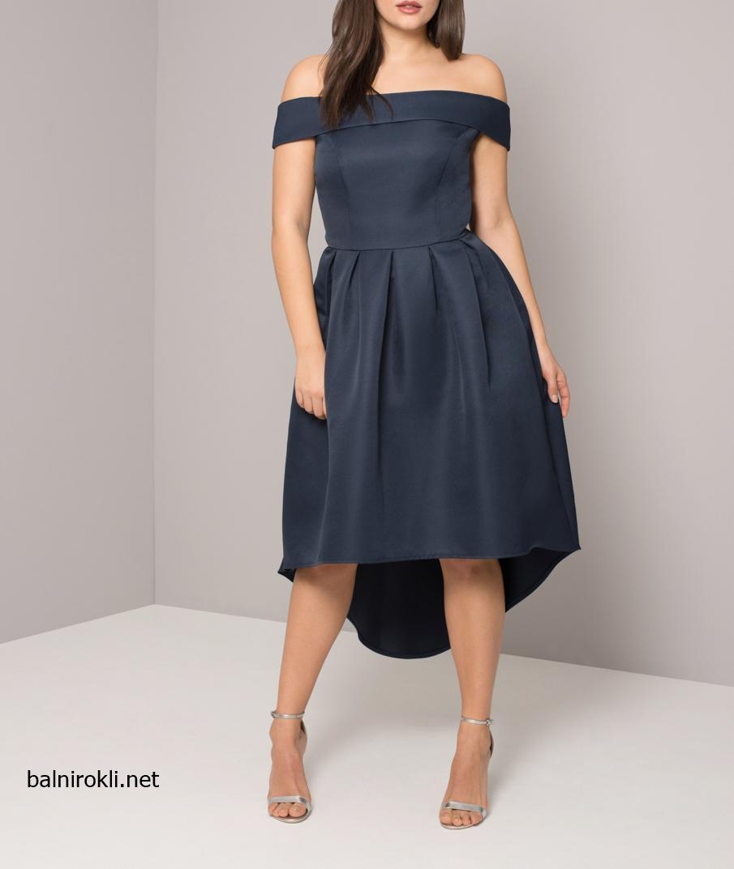 Асиметрична Тъмносиня Официална Бална рокля