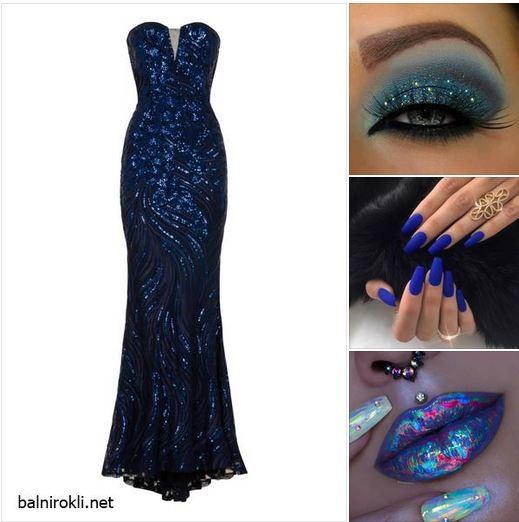 официална тъмносиня рокля