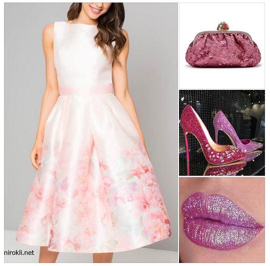 официална рокля флорални мотиви- визия с флорални мотиви