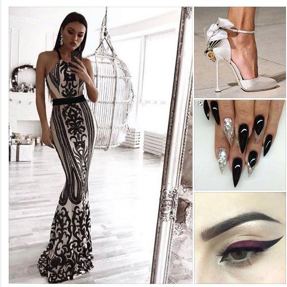 вечерна блестяща рокля