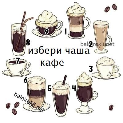 избери чаша кафе и виж прогнозата му