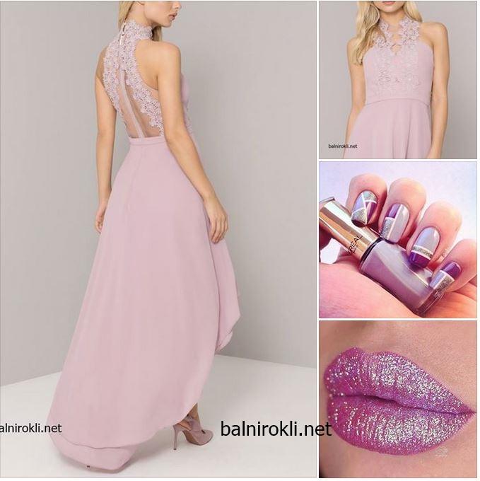 официална рокля пастелно лилаво