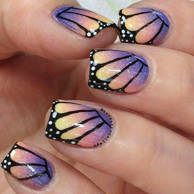 красив маникюр пеперудени крилца