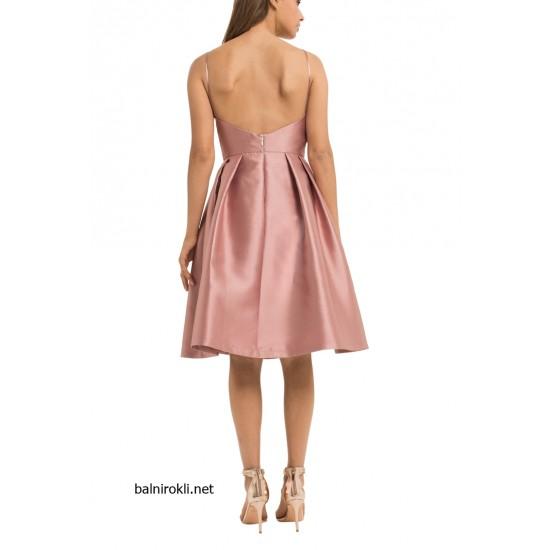 Елегантна Класическа Къса Розова Рокля