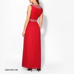 Дълга Елегантна Червена Рокля Декорации