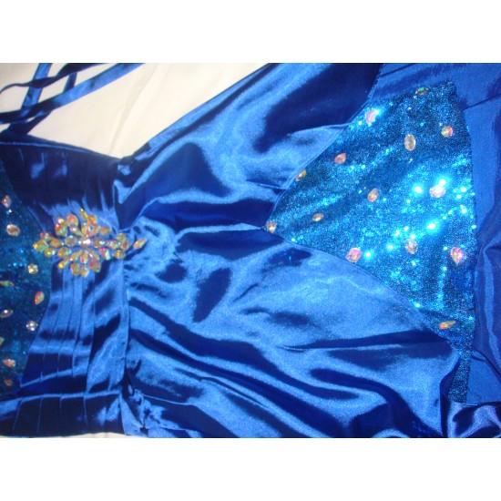 Асиметрична Бална Официална Синя Рокля