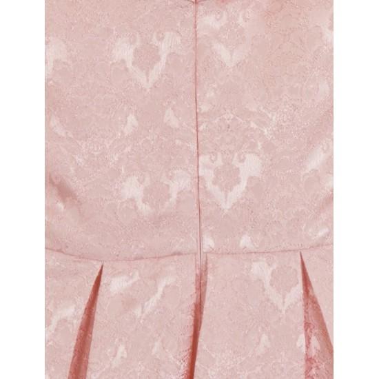 Елегантна Къса Рокля за Бал Розов Цвят