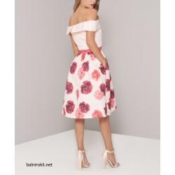 Бална Рокля с Розови Цветя