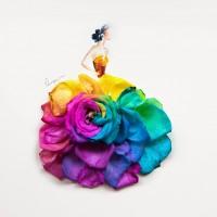 многоцветни рокли