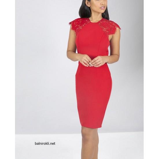 Червена Коктейлна рокля