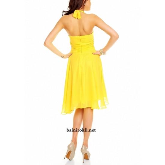 Къса Жълта Парти Рокля