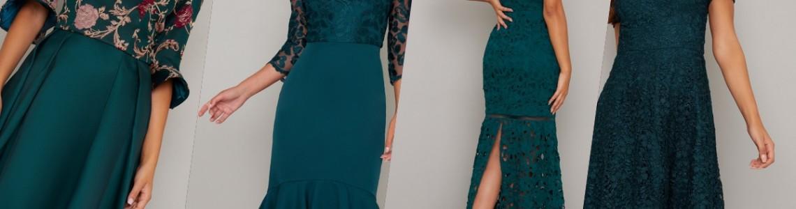 Зелени Официални рокли