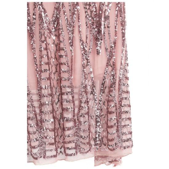 Абитуриентска Блестяща Розова Рокля Пайети
