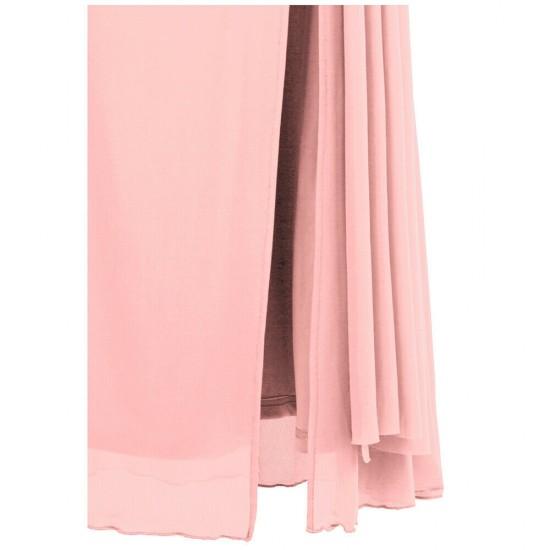 Абитуриентска Бална Рокля Розов Цвят Едно Рамо